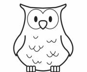 Free coloring and drawings Easy owl Coloring page