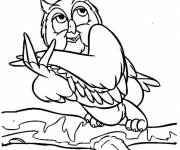 Coloring pages Funny owl