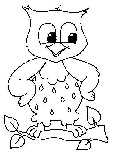 Free coloring and drawings Little owl Coloring page