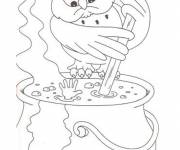 Coloring pages Magician owl