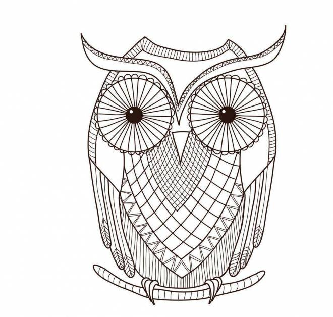 Free coloring and drawings Mandala owl for kids Coloring page