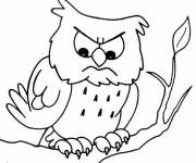 Coloring pages Nervous owl