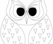 Coloring pages Owl for adult