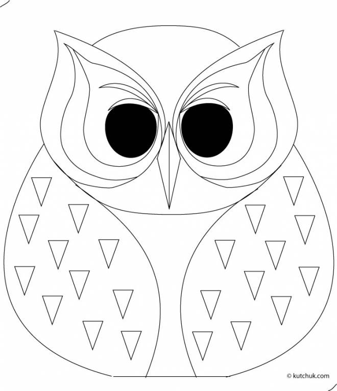 Free coloring and drawings Owl for adult Coloring page