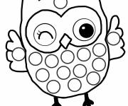 Coloring pages Owl raising hands