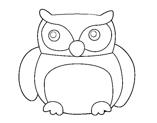 Free coloring and drawings Owl to download Coloring page