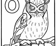 Coloring pages Scary owl