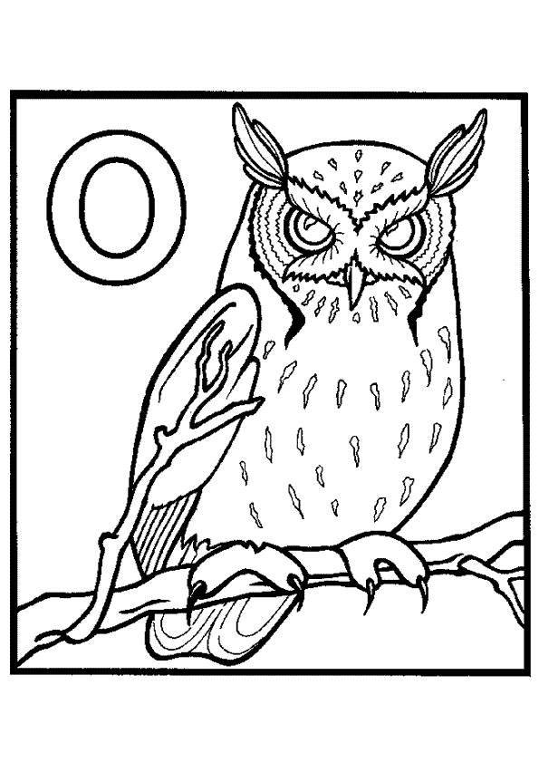 Free coloring and drawings Scary owl Coloring page