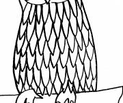 Free coloring and drawings Standing owl Coloring page