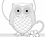 Free coloring and drawings Vector owl Coloring page