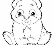 Coloring pages Cute panda
