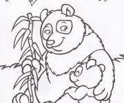 Coloring pages Panda and her baby