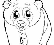 Coloring pages Panda in black and white