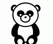 Coloring pages Panda vector