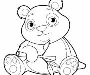Coloring pages Panda with beautiful eyes