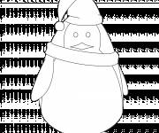 Coloring pages Christmas Penguin