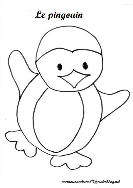 Free coloring and drawings Dancing penguin Coloring page