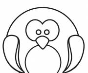 Coloring pages Penguin drawing for child