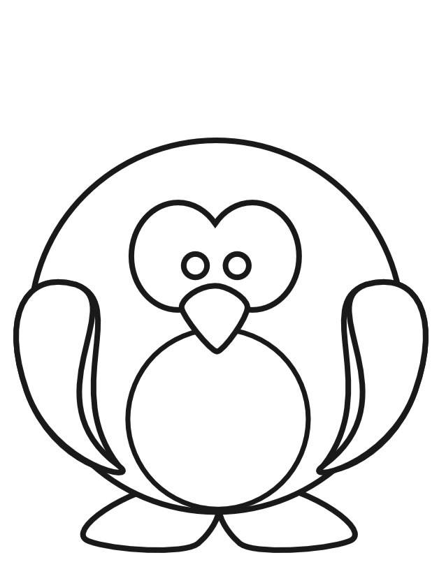 Free coloring and drawings Penguin drawing for child Coloring page