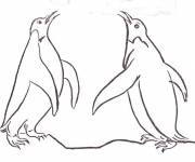 Coloring pages Penguins communicate