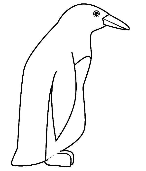 Free coloring and drawings Single penguin Coloring page