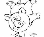Free coloring and drawings A sports pig Coloring page