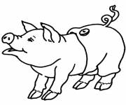 Free coloring and drawings Pig wearing pants Coloring page