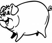 Free coloring and drawings Pig with smile Coloring page