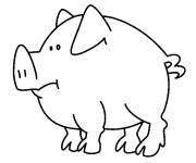 Free coloring and drawings Single pig Coloring page