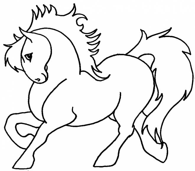 Free coloring and drawings Beautiful pony Coloring page