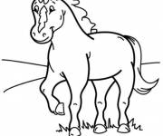 Free coloring and drawings Color pony Coloring page