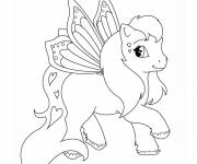 Coloring pages Flying pony