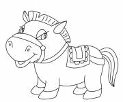 Coloring pages Funny pony