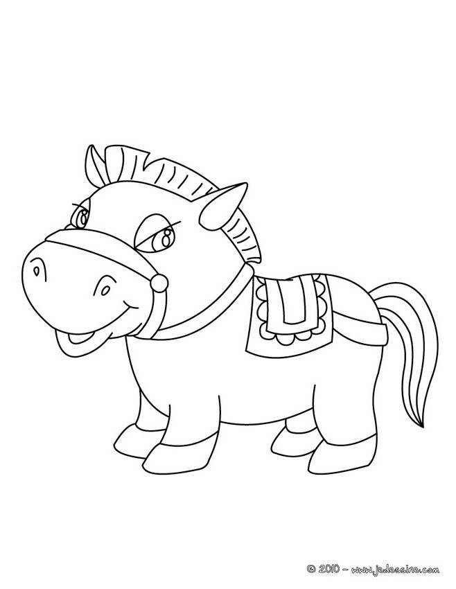 Free coloring and drawings Funny pony Coloring page