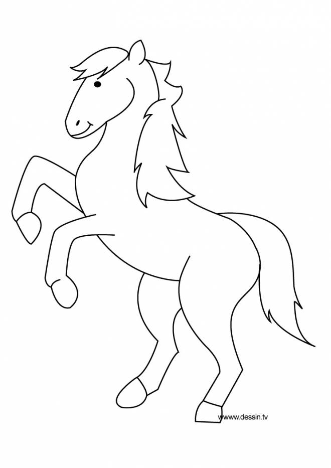 Free coloring and drawings Jumping pony Coloring page