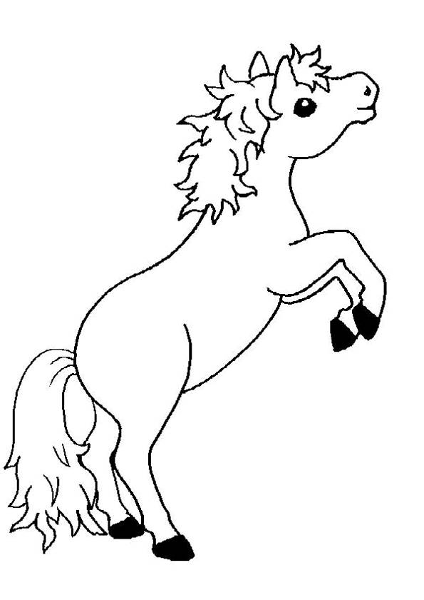 Free coloring and drawings Pony jumping Coloring page
