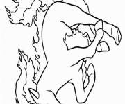 Coloring pages Pony on fire