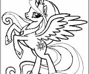 Free coloring and drawings Unicorn pony Coloring page