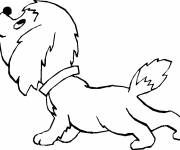 Coloring pages Beautiful puppy