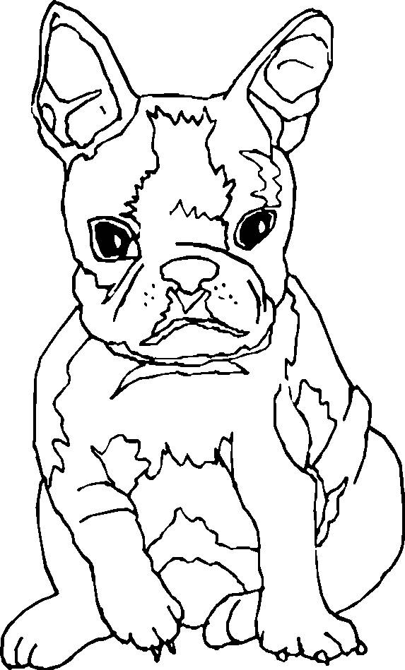 Free coloring and drawings Nasty puppy Coloring page