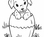 Free coloring and drawings Puppy can Coloring page