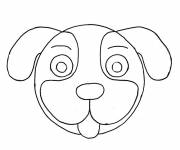 Coloring pages puppy head