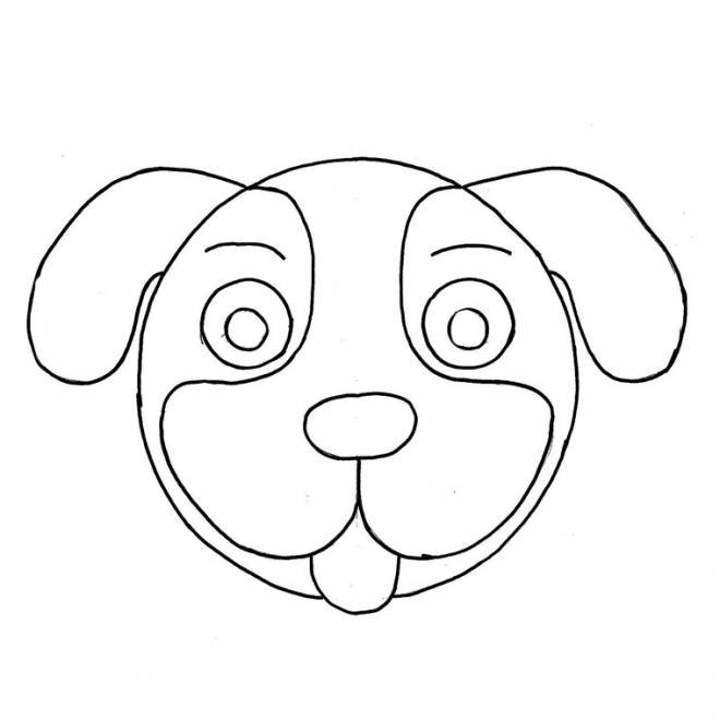Free coloring and drawings puppy head Coloring page