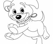 Coloring pages Puppy with bright eyes