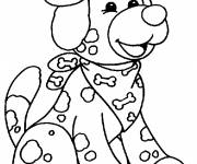 Coloring pages Stylish puppy