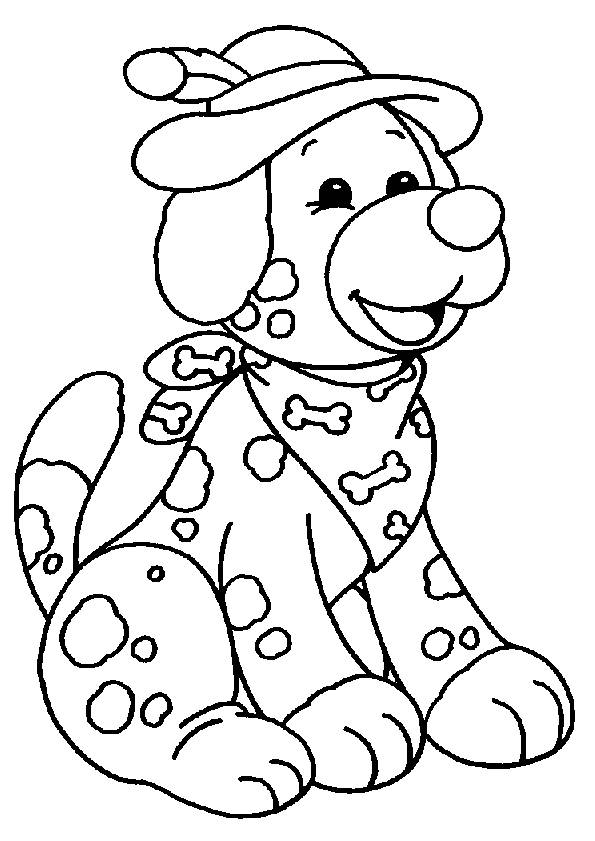 Free coloring and drawings Stylish puppy Coloring page