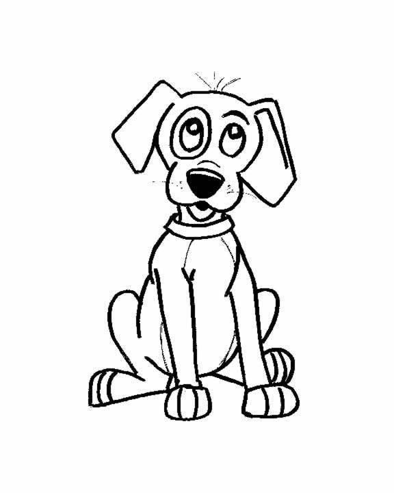 Free coloring and drawings Wise puppy Coloring page