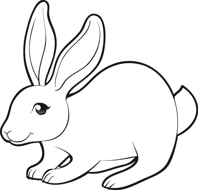 Free coloring and drawings Cutting rabbit Coloring page