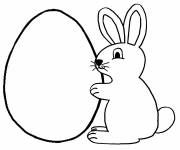 Free coloring and drawings Rabbit and Egg Coloring page