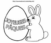 Free coloring and drawings Rabbit birthday Coloring page